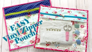 EASY Vinyl Zipper Pouch // Sewing Tutorial!