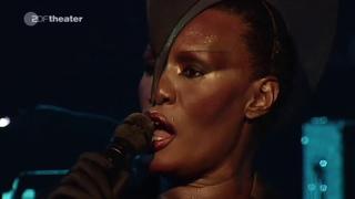 Grace Jones /// Live AVO Session Basel 2009 /// AI HD Upscale interpretation