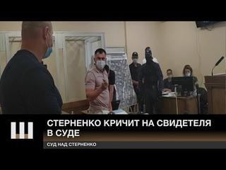 """""""Судить должны ЕГО, А НЕ МЕНЯ!"""" Стерненко КРИЧИТ на свидетеля в суде"""