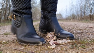 Leather Boots Crush Burger In SLOW MOTION
