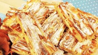 """Такого я еще не готовила!! ВОСХИТИТЕЛЬНО вкусный  греческий пирог """"Плиссе"""" с яблоками и изюмом!!"""