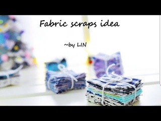 Have fabric scrapsHere's the way to use them up / Fabric christmas tree for decor#HandyMum07