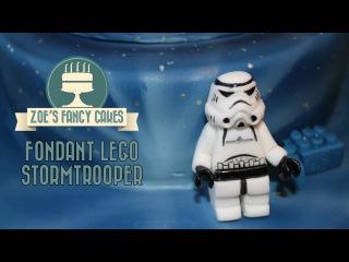 () Fondant lego Stormtrooper Star Wars birthday cake topper
