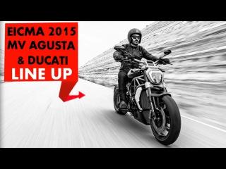 MV Agusta & Ducati Line up | EICMA | Powerdrift