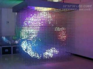 3D LED Cube(32*32*32=32768 voxels)