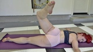 Yoga - Prone Scorpion Stretch  - Model Body Workout