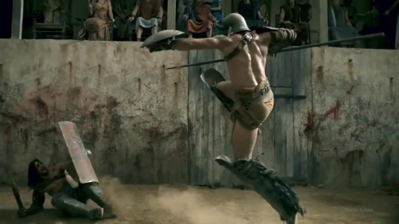 Первый бой Крикса на арене Крикс против Ауктуса Спартак Боги арены