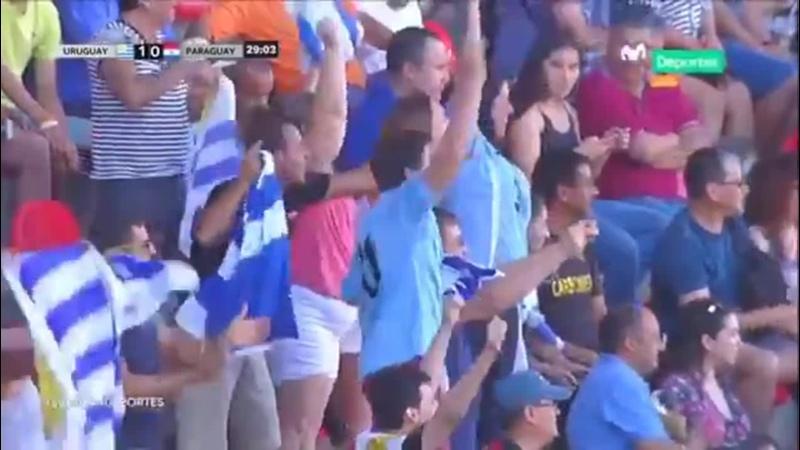 Goool de Uruguay Nicolás Schiappacasse abrió el marcador Sub20xMDeportes Uruguay 1 0
