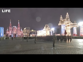 Вторая ночная репетиция Парада Победы в Москве