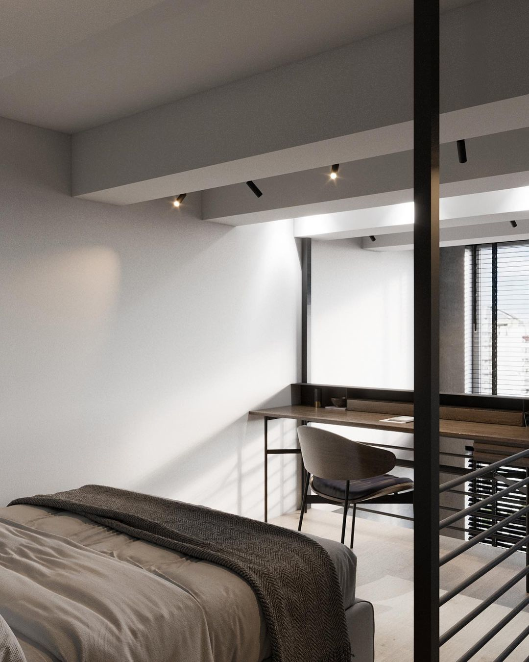 Проект двухуровневой студии 28 кв.