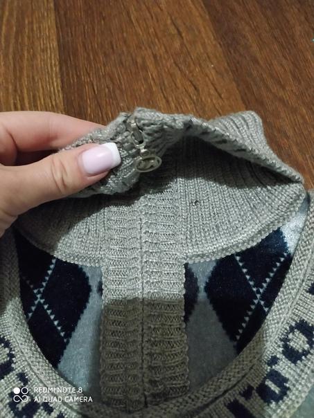 Продам теплый свитер. Горло застёжка на замке....