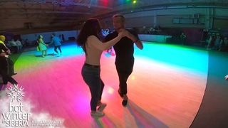 Salsa social dancing / Fedor Nedotko & Anastasiya Bilskaya @ Hot Winter in Siberia Salsa Festival