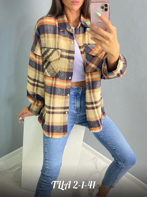 Рубашки в клетку Размеры S. M. L ТК Садовод - ТЦ корпус (А) 2-1-41 Little Secret Женская одежда оптом.