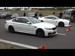 BMW M5 F90 (600HP) vs NISSAN GTR R35 (600HP)