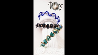 Play with wire   Wavy Bracelets   Crystal beads 620 #Shorts