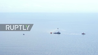 Russia: Drone footage captures extent of oil spill near Novorossiysk