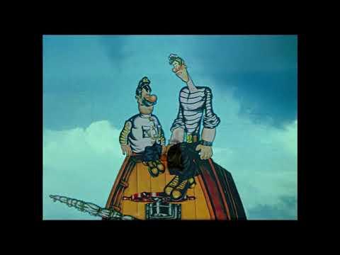 Приключения капитана Врунгеля 1 13 серия увеличен через нейросеть до 4К