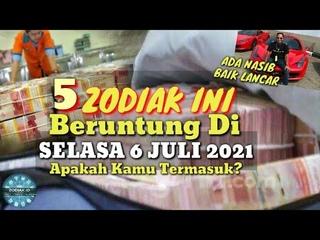ZODIAK YANG BERUNTUNG HARI SELASA 6 JULI 2021 LENGKAP DAN AKURAT ✅